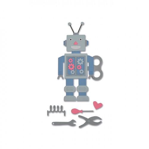 Thinlits Die Set Robot des années 50 - 11 pcs