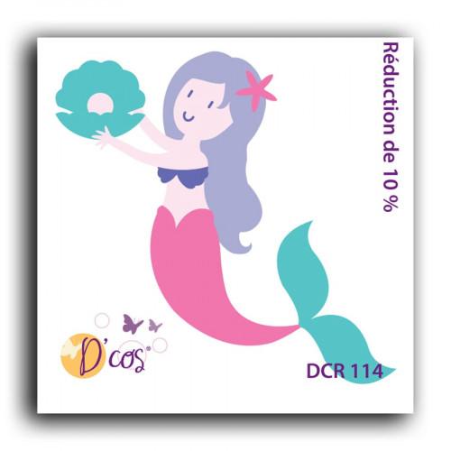 Die D'cos Sirène - 5 x 5 cm