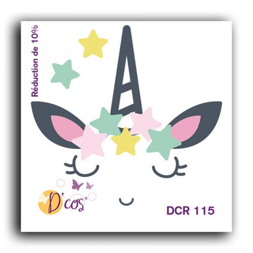 Die D'cos Licorne - 5 x 5 cm