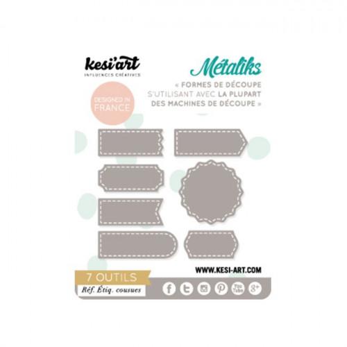Formes de découpe - Métaliks - Etiquettes cousues