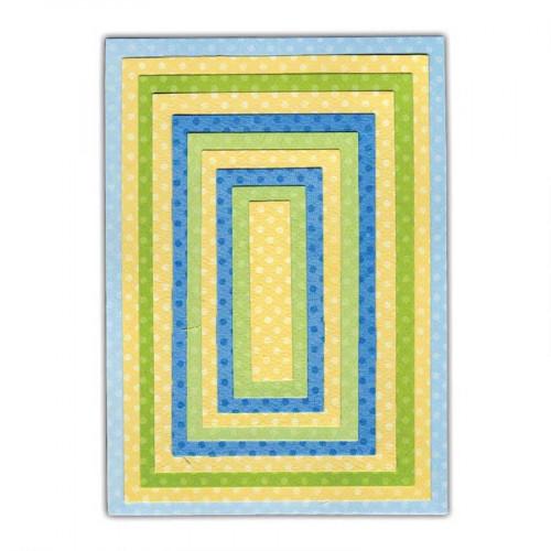 Framelits Pack de 10 Matrices de Découpage Rectangles