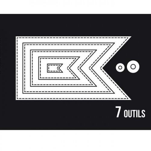 Dies Sweety Cuts - Fanions basiques - 7 pcs