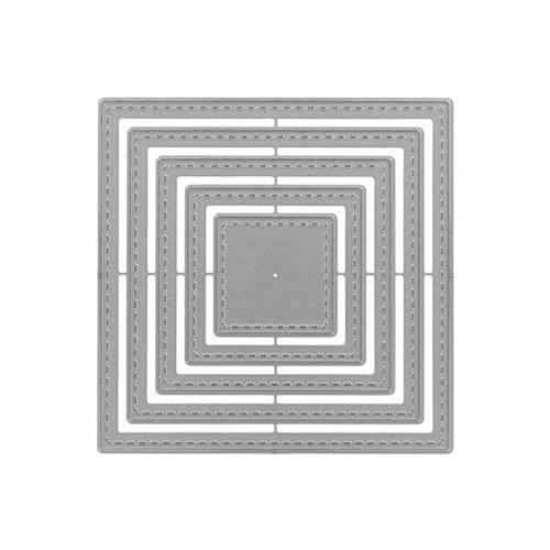 Matrices de découpe - Carrés basiques - 5 pcs