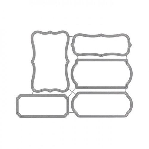 Matrices de découpe - Cinq étiquettes - 5 pcs