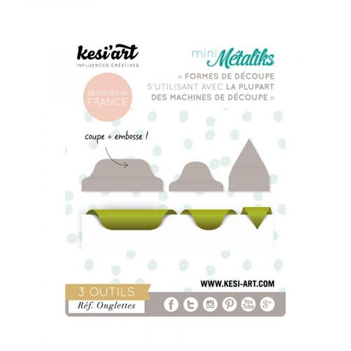 Mini Métaliks - Formes de découpe - Onglettes - 3 pcs