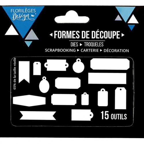 Dies - Quinze étiquettes - 15 pcs