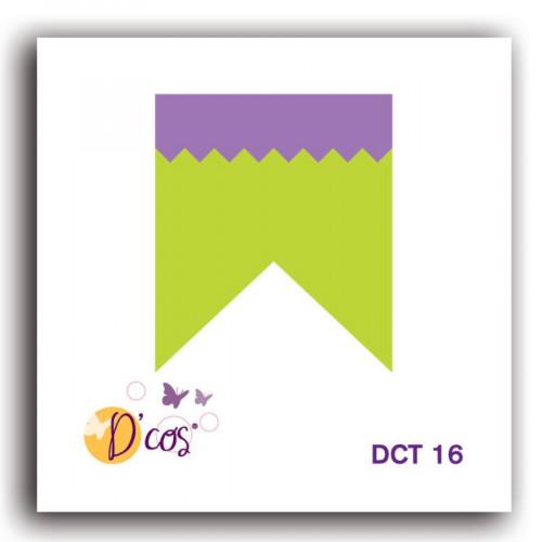 Die D'cos - Fanion en pointe - 2,5 x 2,9 cm