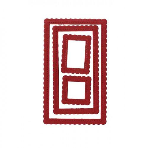 Die Set Cadres rectangulaires festonnés