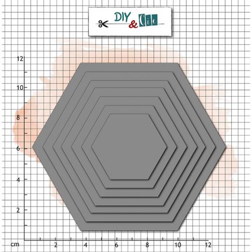 Die Set Basik : Hexagones - 7 pcs