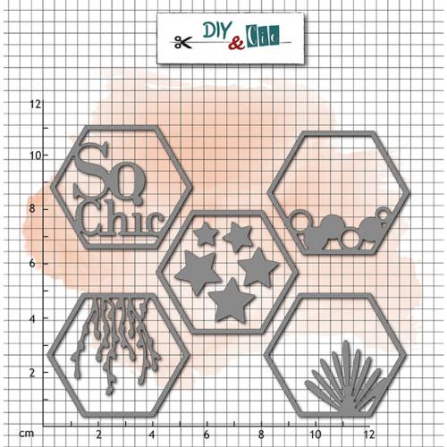 Die Set Hexagones So chic - 5 pcs