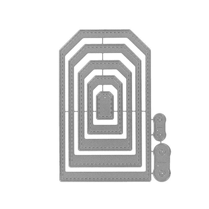 Matrices de découpe - Tags basiques - 7 pcs