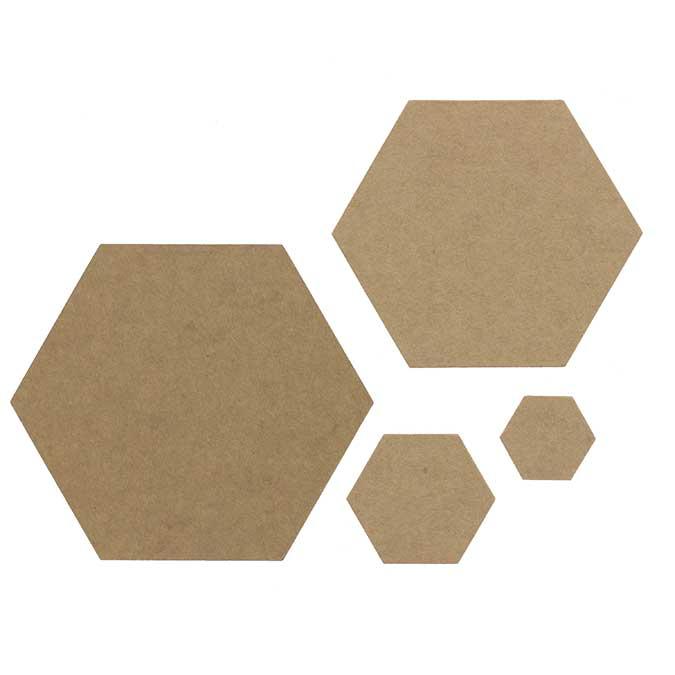 Die Set Hexagones basiques - 7 pcs