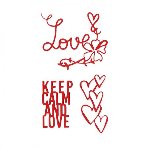 Die Set - Keep Calm and Love - 3 pcs