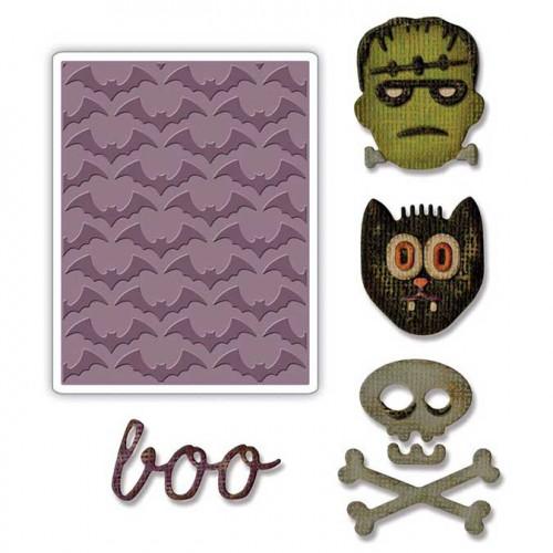 Texture et découpe Halloween