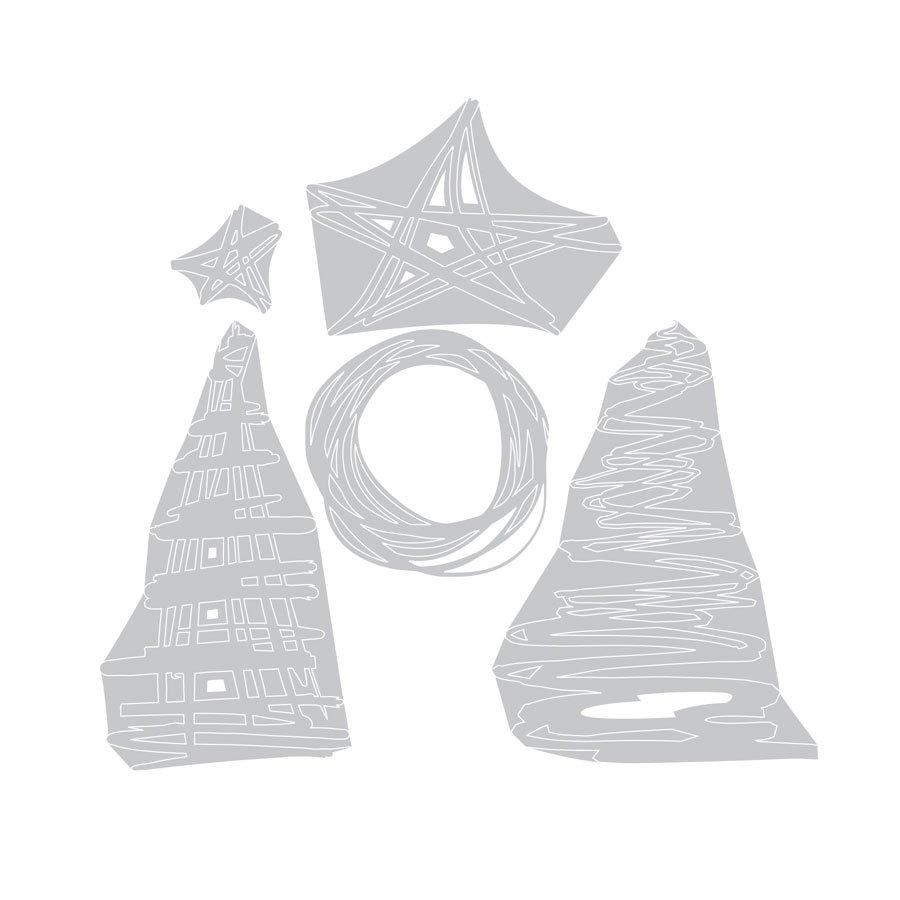 Thinlits Die Set - Festive Scribbles - Tim Holtz - 5 pces