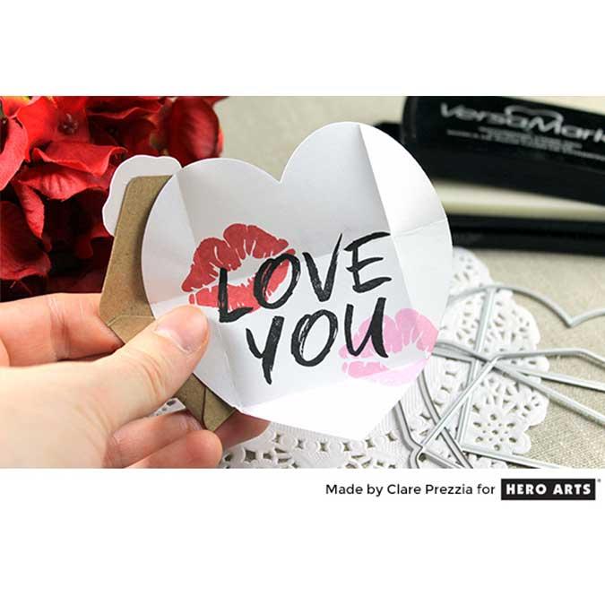 Die Set Love Note - Carte et enveloppe