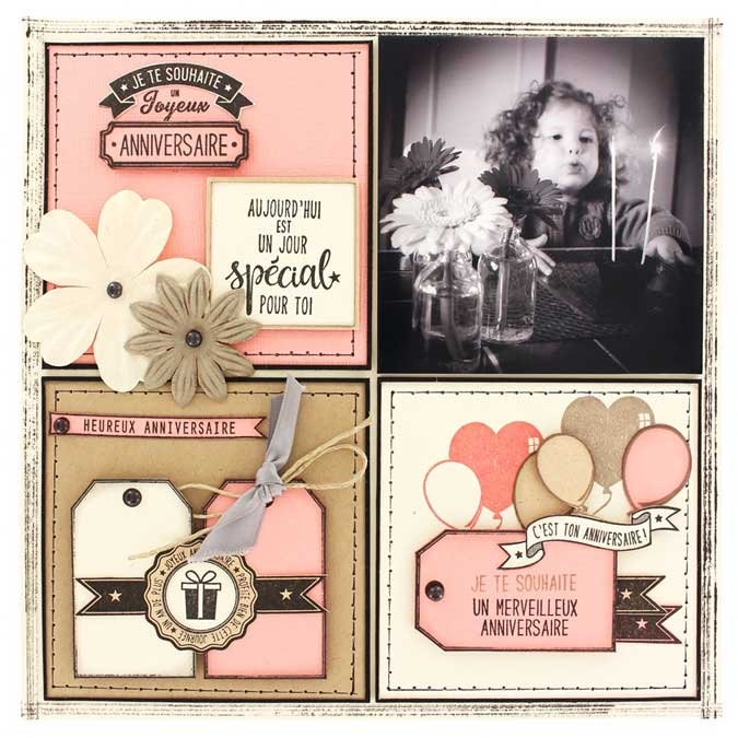Capsule Octobre 2016 - Matrices de coupe - Sweety Cuts Les Combos - Joyeux Anniversaire - 5 pcs