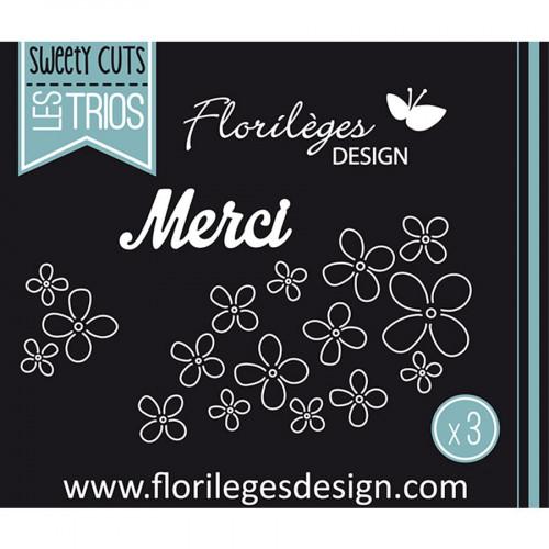 Matrices de coupe - Sweety Cuts Les Trios - Envol de fleurs - 3 Dies