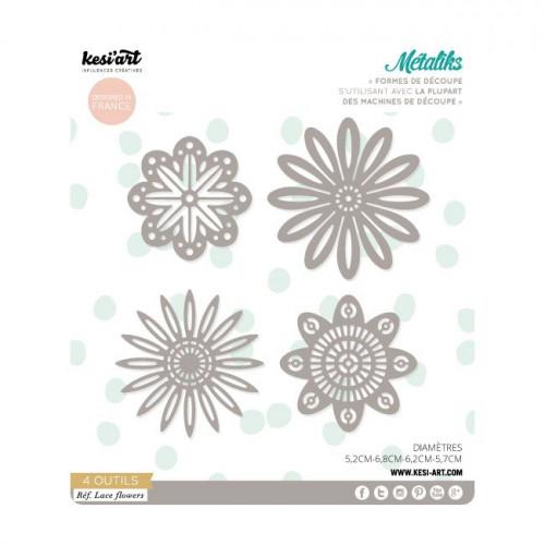 Formes de découpe - Métaliks - Lace flowers