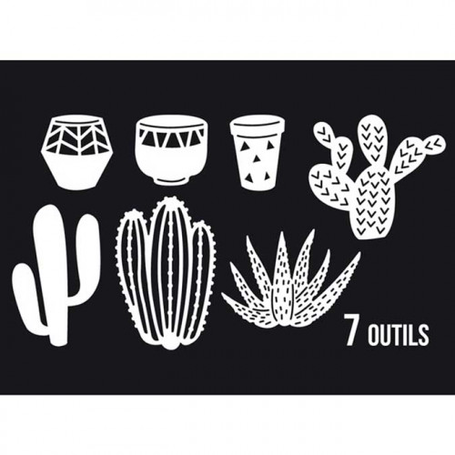 Dies Sweety Cuts - Quelques cactus - 7 pcs