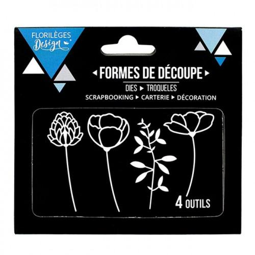 Matrices de découpe - Eclosion de fleurs - 4 pcs