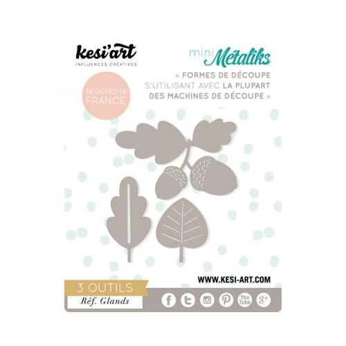 Mini Métaliks - Formes de découpe - Glands - 3 pcs
