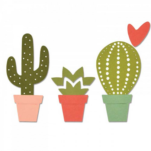 Thinlits Die Set 6 pièces - Cactus par Debi Potter