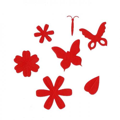 Die Set - Fleurs et papillons - 7 pcs