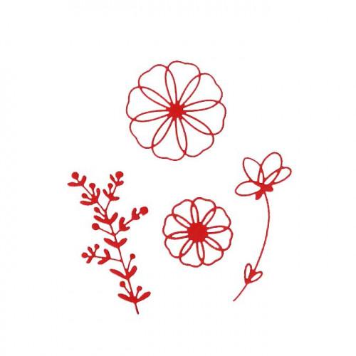 Die Set - Fleurs majestueuses - 4 pcs