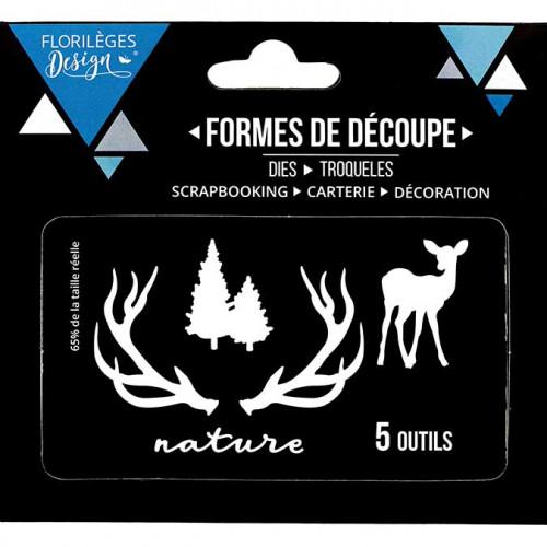 Die Set - Nature et sapins - 5 pcs