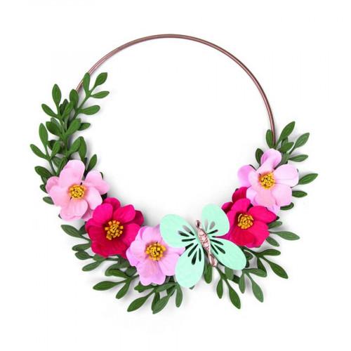 Bigz Die avec Classeur de gaufrage Papillon et motifs floraux