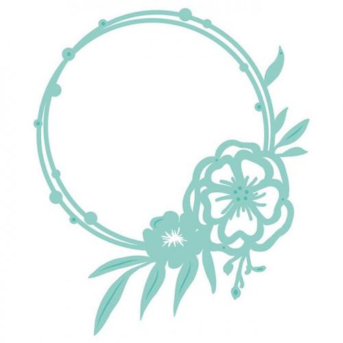 Die Cercle fleuri - 10,8 x 12,9 cm
