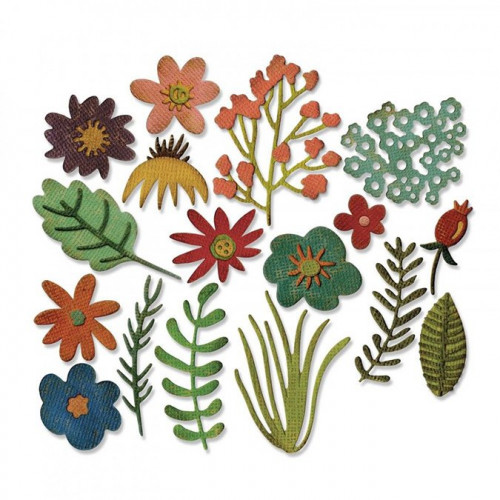 Thinlits Die Set Fleurs funky #1 - 15 pcs