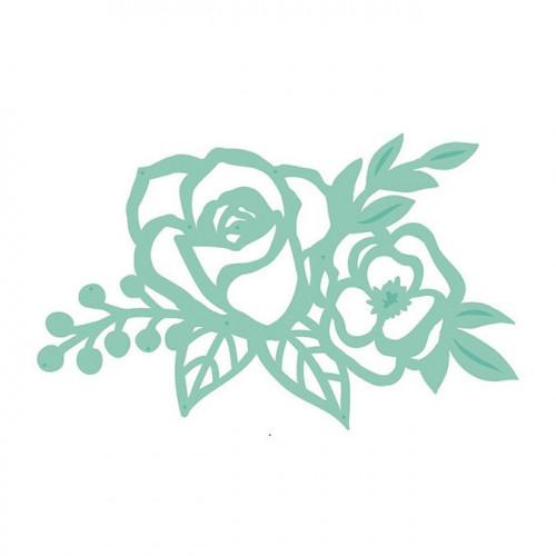 Die Composition de roses - 9,8 x 6,1 cm