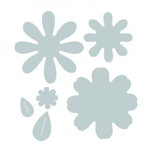 Bigz Die Fleurs avec feuilles