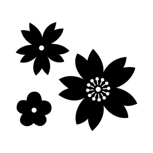 Die Set Fleurs - 3 pcs