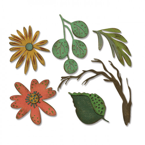 Thinlits Die Set Grandes fleurs Funky - 6 pcs