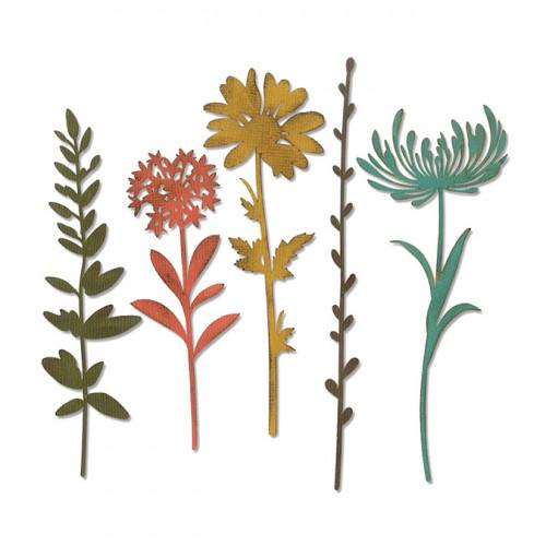 Thinlits Die Set Fleurs sauvages #1 - 5 pcs