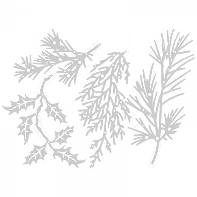 Thinlits Die Set 4 pièces branches de Noël par Tim Holtz