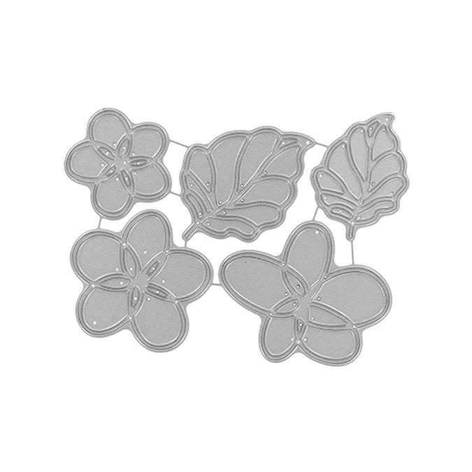 Matrices de découpe - Fleurs et feuilles - 5 pcs