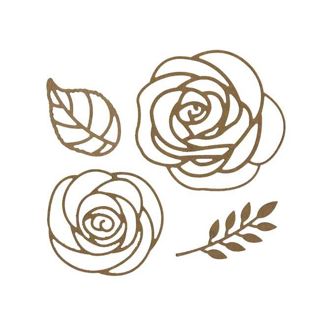Dies - Roses - 4 pcs