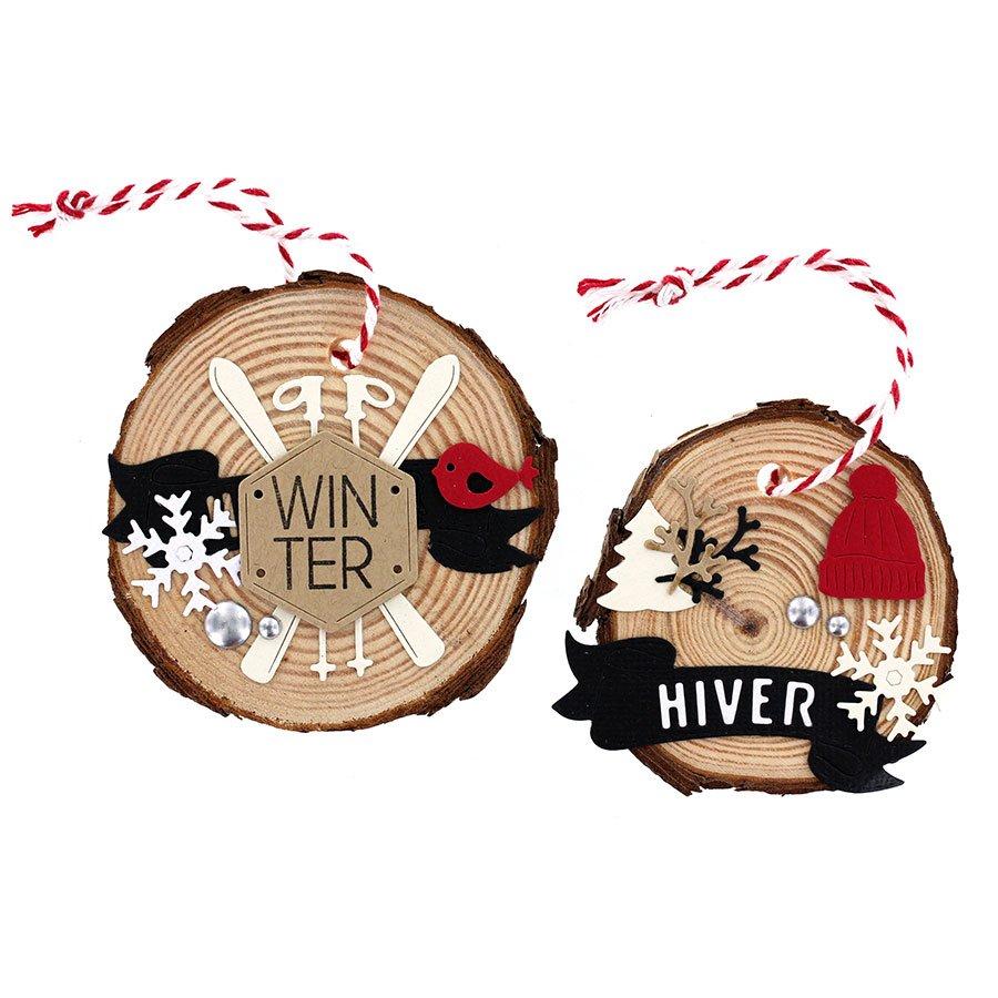 Die Set Hiver blanc - 6 pcs