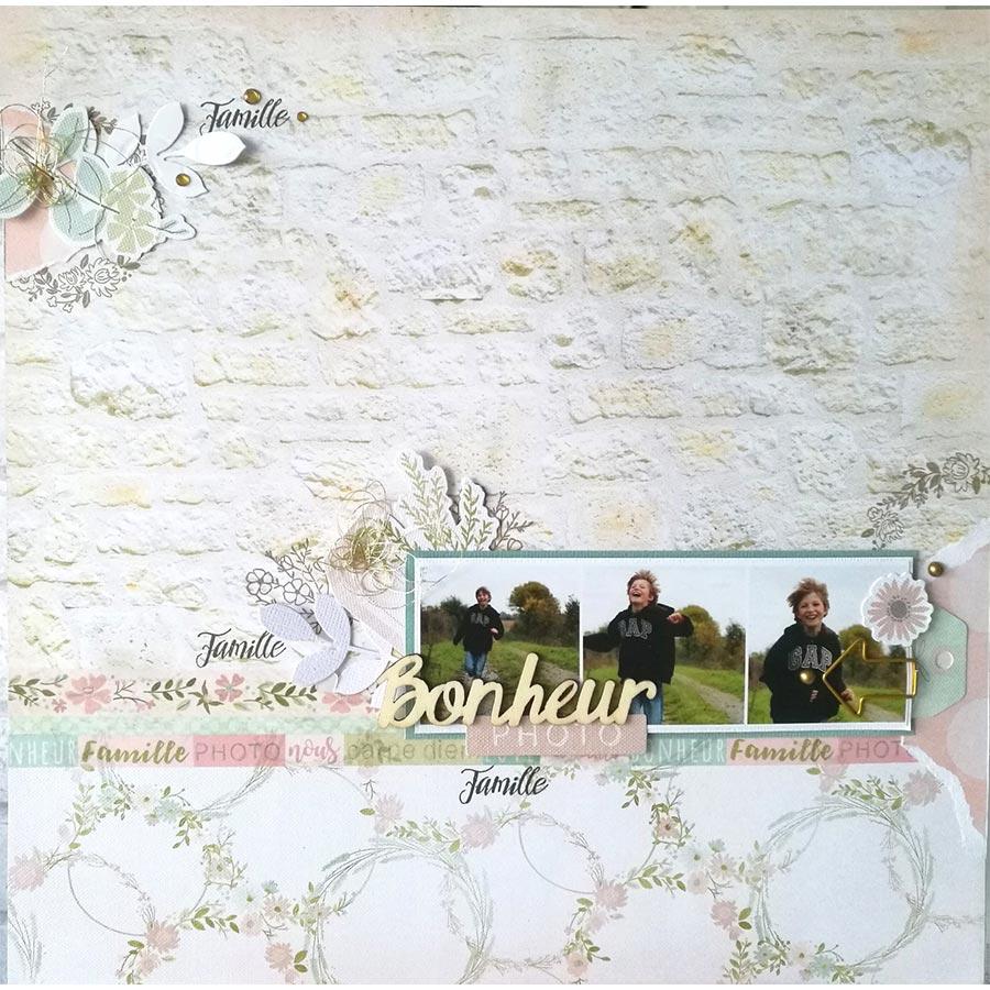Die Set Couronne fleurie - 5 x 5 cm