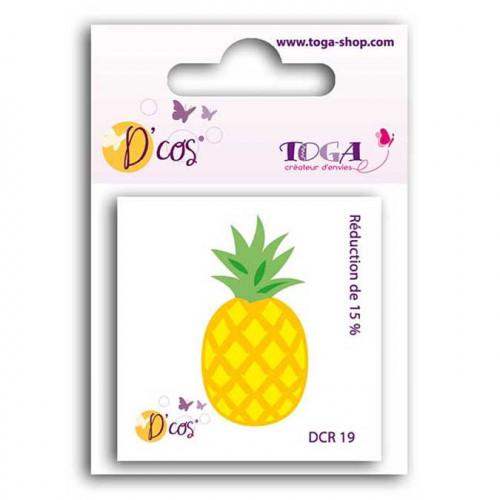 Die D'cos - Ananas - 2,4 x 4,8 cm