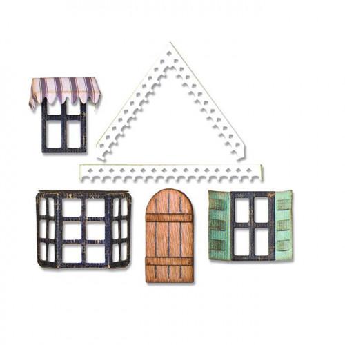 Thinlits Die Set Détails pour maisons - 7 pcs