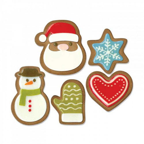 Thinlits Die Set Biscuits de Noël #1 - 17 pcs