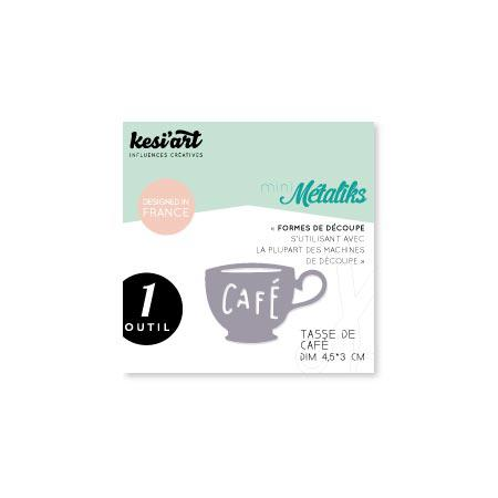 Forme de découpe - Mini Métaliks - Tasse de café - 4,5 x 3 cm