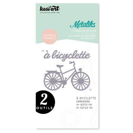 Set de 2 formes de découpe - Métaliks - A bicyclette