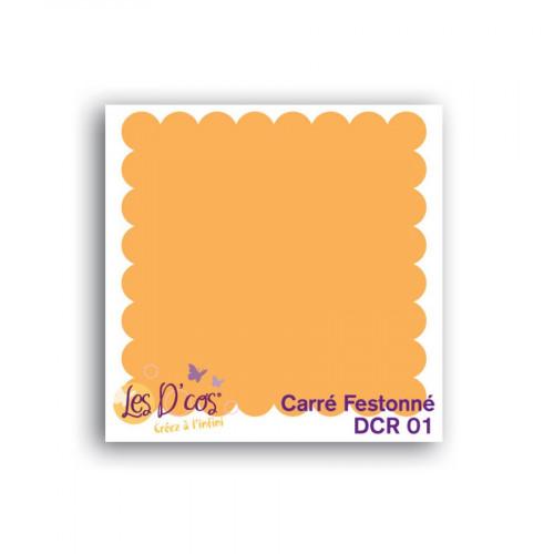 Die D'cos - Carré Festonné - 5 x 5 cm