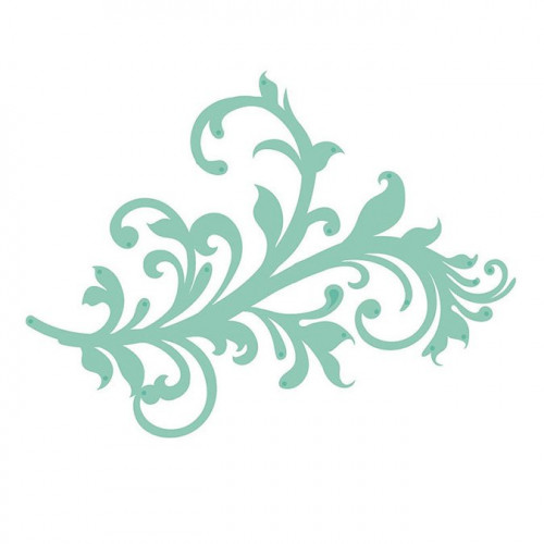 Die Ornement fleuri - 10,3 x 7,7 cm